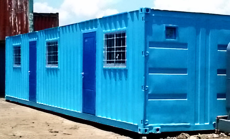 Modified Container For Office Accommodation Ablution