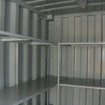 Shipping Container Fitted with Steel Shelving for storage